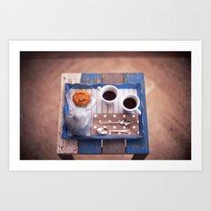 Serving Coffee Art Print