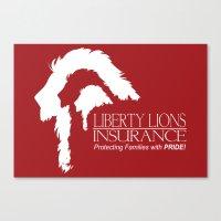 Liberty Lion Insurance Logo Canvas Print