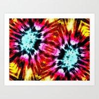 Colorful Poinsettia Abst… Art Print