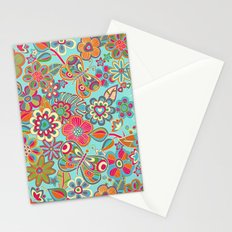 My flowers and butterflies in blue.  Stationery Cards