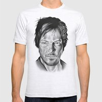 Daryl Dixon Mens Fitted Tee Ash Grey SMALL