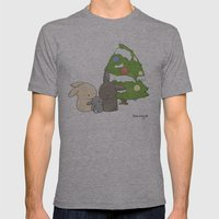 Christmas Mens Fitted Tee Athletic Grey SMALL