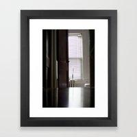 Sunken room Framed Art Print