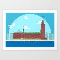 Stockholm - City Hall Art Print