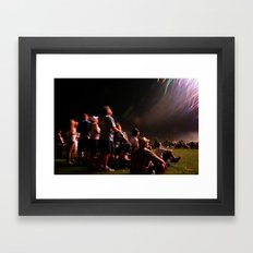 Ooohs and Awws at Fireworks Framed Art Print