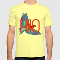 RIO PANTS PARTY Mens Fitted Tee Lemon SMALL