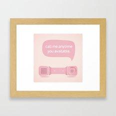 Call Me. Framed Art Print