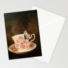 Tea Time With A Hummingbird 1 Stationery Cards