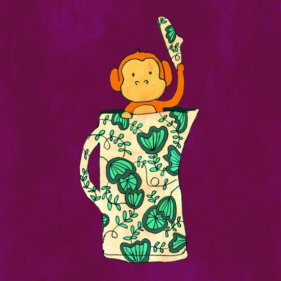 Dinnerware sets - Monkey in a jug Art Print