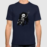 Death of Dracula Mens Fitted Tee Navy SMALL