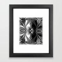 Abstract.White+Black Pea… Framed Art Print