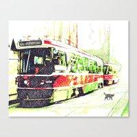 501 Street car Canvas Print