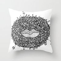 Mouthing Throw Pillow