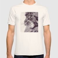 Big Cat Mens Fitted Tee Natural SMALL