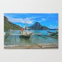 Palawan Beach Philippine… Canvas Print