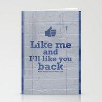 Like Me And I'll Like Yo… Stationery Cards