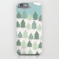 Pacific Northwest Tree and Rain Scene - Portland, PDX, Seattle, Washington, Oregon iPhone 6 Slim Case