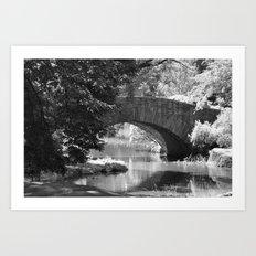 Central Park Stone Bridge  Art Print