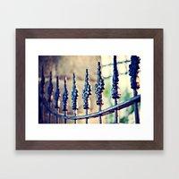Fence Love Framed Art Print