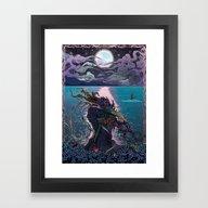 Framed Art Print featuring Midnight Meeting by Mat Miller