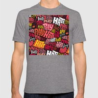 Play/Hate Pattern Mens Fitted Tee Tri-Grey SMALL