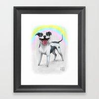 I Love Pitbulls Framed Art Print