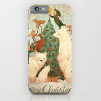 iPhone & iPod Case featuring Christmas Card 2014 by Anne Lambelet