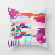 Throw Pillow featuring Asking For Directions by Emily Rickard