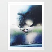Heart On A Steamed Windo… Art Print