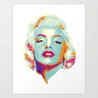 Crystal Marilyn Art Print