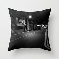 Tokyo Nights Throw Pillow
