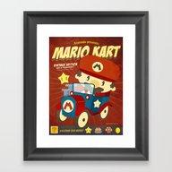Framed Art Print featuring Mario Kart Vintage by Danvinci