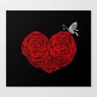 A Butterfly To Be, A Ros… Canvas Print