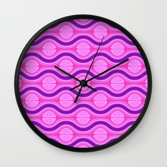 Pattern pink and purple 1 Wall Clock