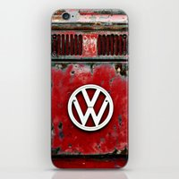 VW Retro Red iPhone & iPod Skin