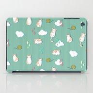 Chubby Kitty Pattern iPad Case