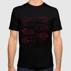Classic Horror Hands (Red Line) Mens Fitted Tee Black SMALL
