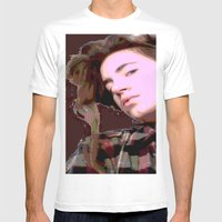 Stylized Geisha Mens Fitted Tee White SMALL