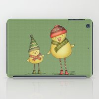 Two Chicks - green iPad Case