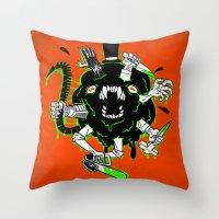 Monster Rumble! Throw Pillow