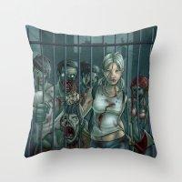Zombie Slayer Throw Pillow