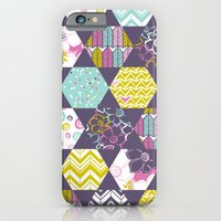 iPhone & iPod Case featuring Garden Party Festive Hexi by Heather Dutton
