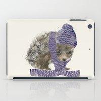 little winter hedgehog iPad Case