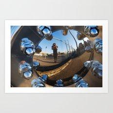 shiny truck wheel Art Print