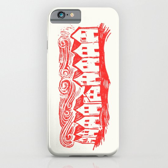 Sad Row (Red) iPhone & iPod Case