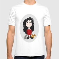 Cartoon Mens Fitted Tee White SMALL