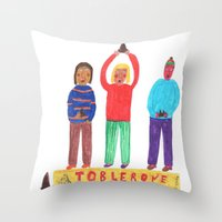 Toblerone. Throw Pillow