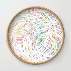 Tracing lazy circles in the sky Wall Clock