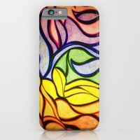 waves iPhone & iPod Cases featuring Waves by Aaron Carberry