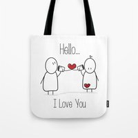 Hello I Love You Tote Bag